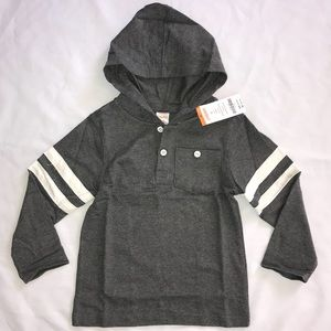 Gymboree gray hooded long sleeve shirt 3T hoodie